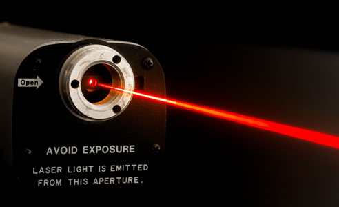 Laser beam from lab laser